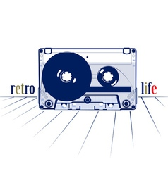 Retro style audio cassette vector