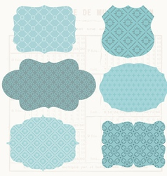 vintage design elements for scrapbook - old tags a vector image