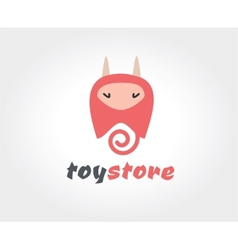 Abstract devil cute character logo icon concept vector