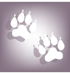 Animal tracks icon with shadow vector