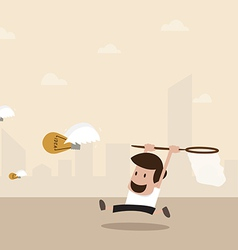 Chasing idea vector image vector image