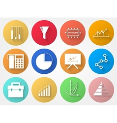 Circle icons for outsource vector