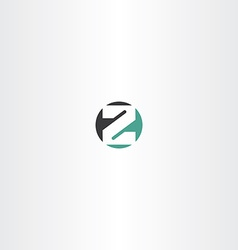 circle letter z or number 2 two icon vector image vector image
