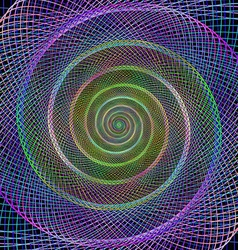 Colorful spiral fractal from ellipses vector