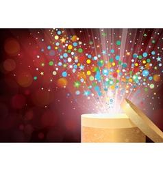 confetti gift vector image