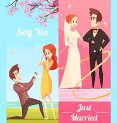 couple in love vertical banners vector image