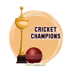 cricket champions design vector image