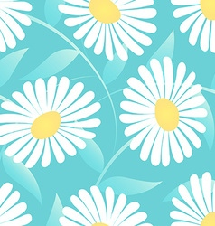 Daisy flower in a seamless pattern vector