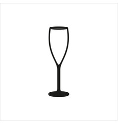 empty champagne glass icon monochrome style vector image vector image