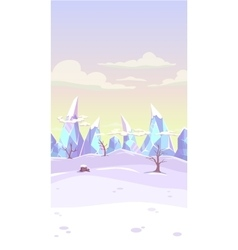 Fantasy winter landscape vector