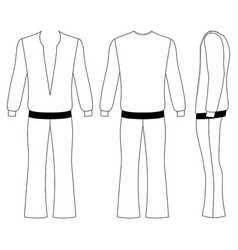 flare man pants and long sleeve t-shirt vector image