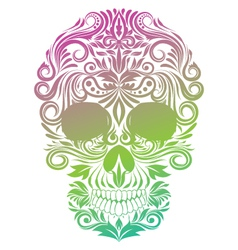 Floral Ornament Human Skull vector image vector image