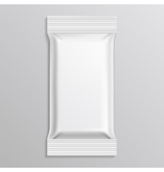 Flow blank white pack template vector image