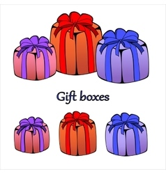Gift or present boxes with outline vector image vector image