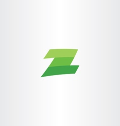 green logotype z letter sign vector image