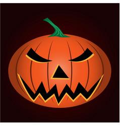 halloween gourd vector image