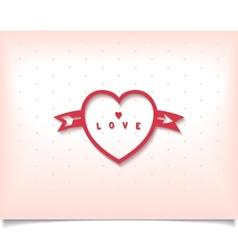 Heart with arrow and polka dot vector