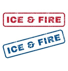 Ice fire rubber stamps vector
