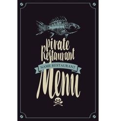 menu pirate restaurants vector image vector image