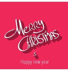 Merry Christmas typography handwriting vector image vector image