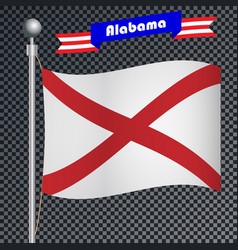 National flag of alabama vector