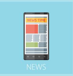 News flat design concept vector