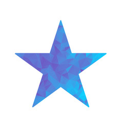 polygon blue icon star vector image vector image