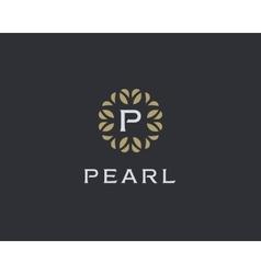 Premium monogram letter p initials logo universal vector