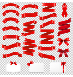 red ribbons big collection vector image vector image
