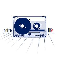 Retro style audio cassette vector
