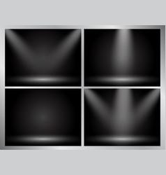 set of clear empty studio light dark backgrounds vector image vector image