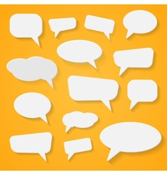 Set of various abstract speech bubbles vector image vector image