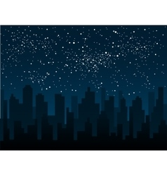 silhouette of the city Star sky Eps 10 vector image vector image