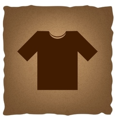 T-shirt sign vintage effect vector