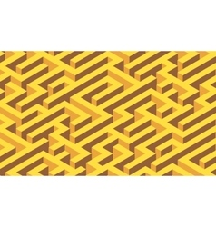 The maze yeloow labyrinth - endless vector image