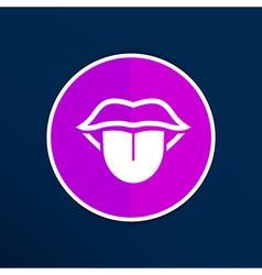 Tongue icon isolated human fun anatomical vector