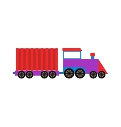 Train isolated vector image