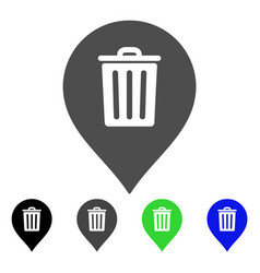 trash can marker flat icon vector image