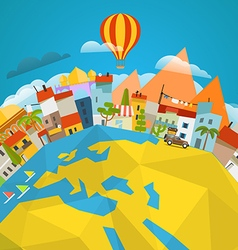 Travel concept around the world vector