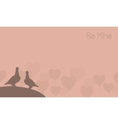 Valentine of two bird landscape vector