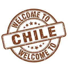 Welcome to chile brown round vintage stamp vector