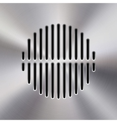 Music metal audio speaker vector
