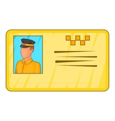 Document taxi driver icon cartoon style vector