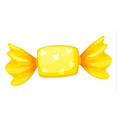 Yellow candy vector