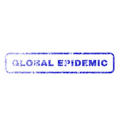 global epidemic rubber stamp vector image