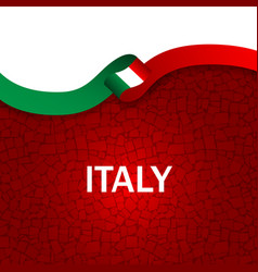italy sport style flag ribbon tiles style vector image