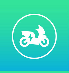 Electric scooter icon in circle vector