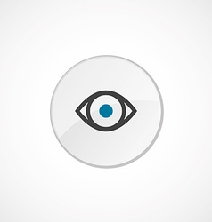 Eye icon 2 colored vector