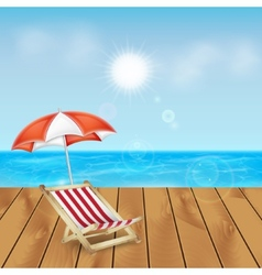 Tropical sea and beach vector