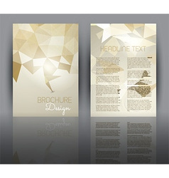 Flyer design with a low poly design vector